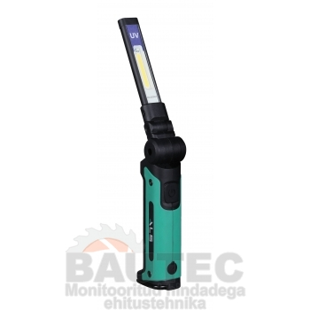 Töövalgusti UV (ultraviolett) 200lm COB LED, õhuke, laetav, liigendiga