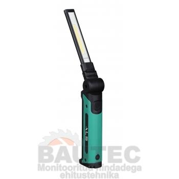 Töövalgusti 500lm COB LED, õhuke, laetav, liigendiga