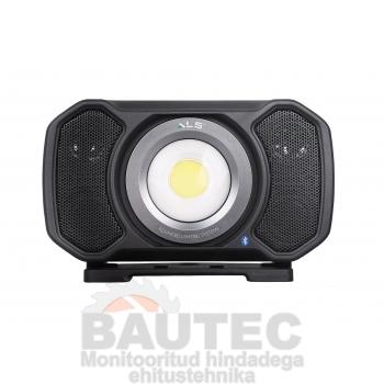 Töövalgusti kõlariga COB LED 2000lm, rasketesse tingimustesse, laetav/juhtmega, IP67