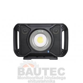 Töövalgusti kõlariga COB LED 5000lm, rasketesse tingimustesse, laetav/juhtmega, IP67