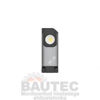 Töövalgusti 350lm COB LED, õhuke, laetav, konksu ja magnetiga, reguleeritav 10-100%, IP54