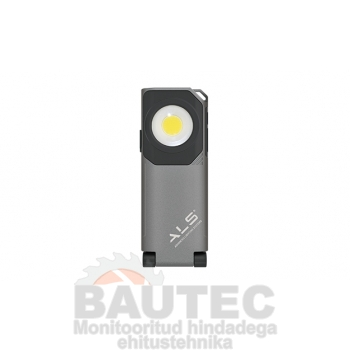 Töövalgusti 600lm COB LED, õhuke, laetav, konksu ja magnetiga, reguleeritav 10-100%, IP67