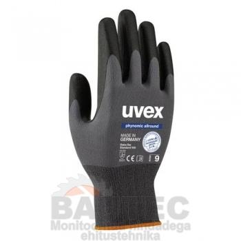 Töökindad Uvex Phynomic Allround, hallid, kuiva ja kergelt niiskesse keskkonda, suurus 9