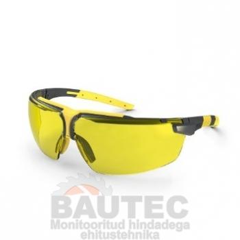 Kaitseprillid Uvex i-3, kollane, supravision HC/AF kontrastsust lisava kattega lääts, raam antratsiit/kollane