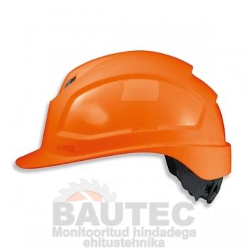 Kiiver Uvex Pheos IES, oranž, reguleeritava ventilatsiooniga, 55-61 cm. kaitseprillide adapter, pingutus rattaga
