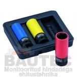 Löökpadrunvõtmete kmpl. Bahco BWSS12P3
