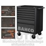 Tööriistakäru ratastel Bahco 5 sahtliga + 147 tööriista