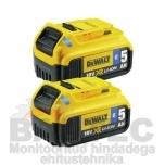 Akud DeWalt 2 x 18V 5,0Ah DCB284B Bluetooth