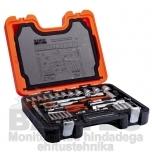 """Tööriistakomplekt Bahco S910 1/4""""+ 1/2"""" 91 osa"""