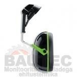 Kõrvaklapid 2tk kiivrile Uvex K1H SNR: 27 dB, must/roheline