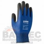 Töökindad Uvex Phynomic WET, vett tõrjuva polüamiid/elastaan + Aqua polümeerkattega, sinised, suurus 8
