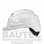 Kiiver Uvex Pheos IES, valge, reguleeritava ventilatsiooniga, 55-61 cm. kaitseprillide adapter, pingutus rattaga
