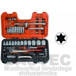 """Padrunite ja võtmete kompl. Bahco 4-32mm 1/4""""+ 1/2"""" 56 osa"""